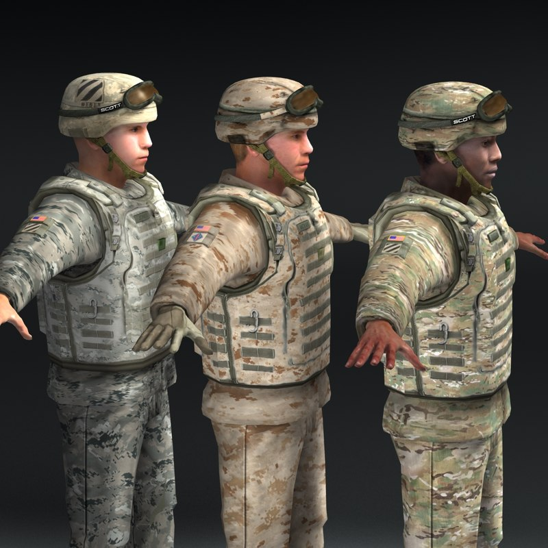 US Soldiers x3