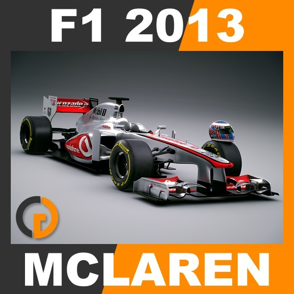 F1 2013 McLaren MP4-28 - Vodafone McLaren Mercedes 3D Models