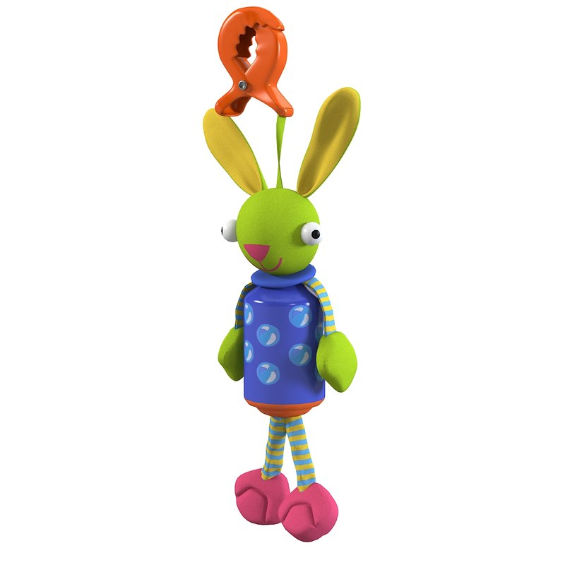 Rabbit toy bunny baby children suspension rope cord hook mobile 0001.jpg