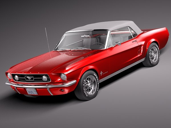 Ford Mustang GT 1967 Soft Top 3D Models