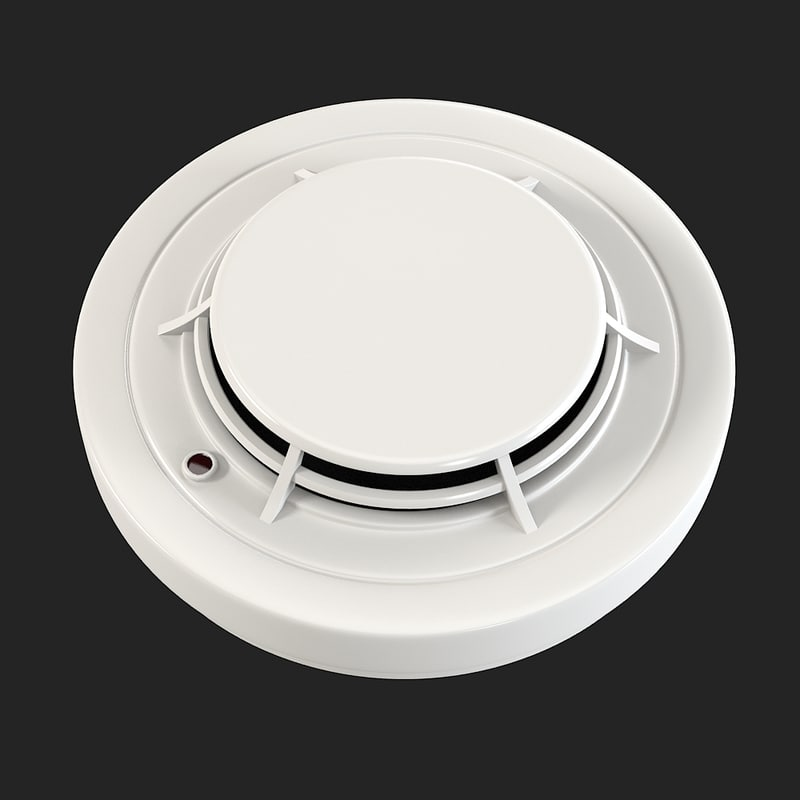 Smoke detector fire conventional optic emergency control alarm office round ceiling device 0001.jpg