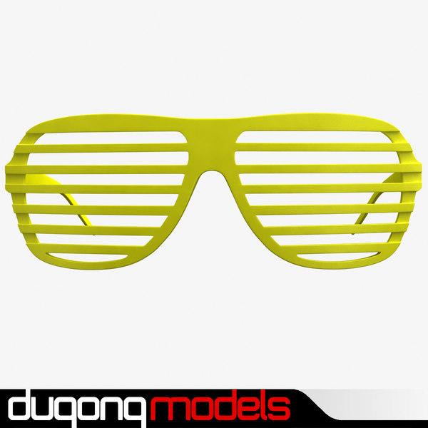 Shutter Shade Sunglasses 3D Models