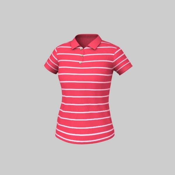 Women Striped Polo Texture Maps