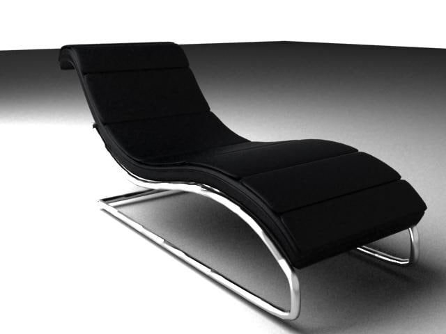 curved lounge chair 3d 3ds