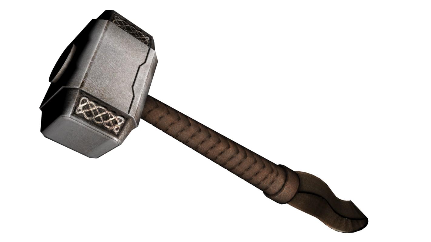 mjölnir hammer thor 3d obj