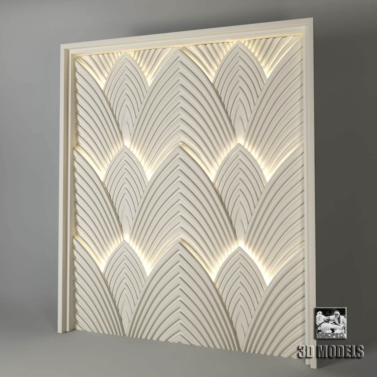 Art deco panels for Modern decorative art