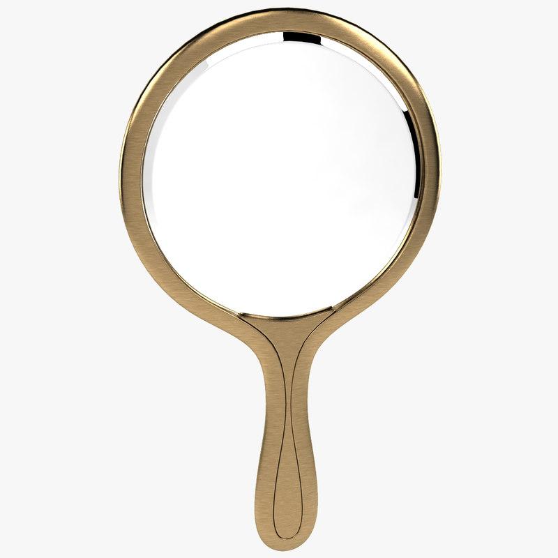 3d model hand mirror