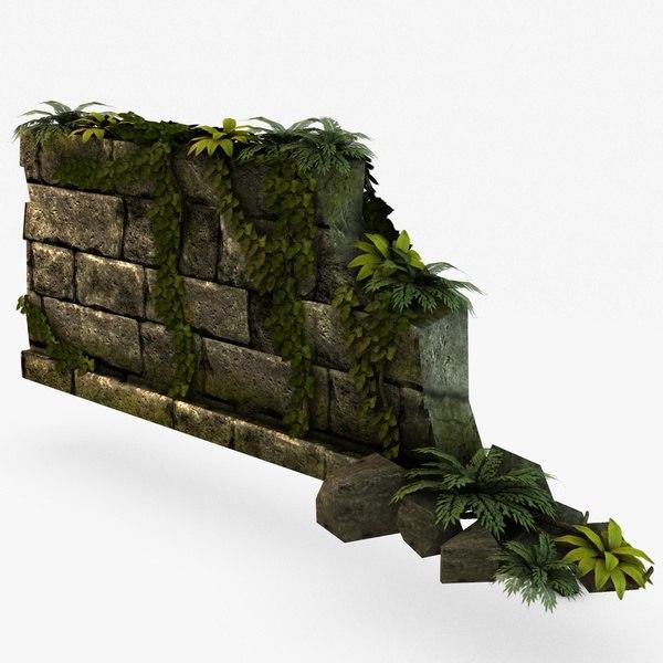 Jungle broken wall