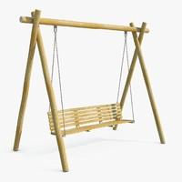 porch swing 3D models