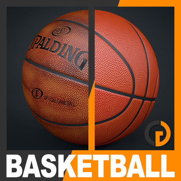 Spalding Official Basketball Game Balls Pack 3D Models