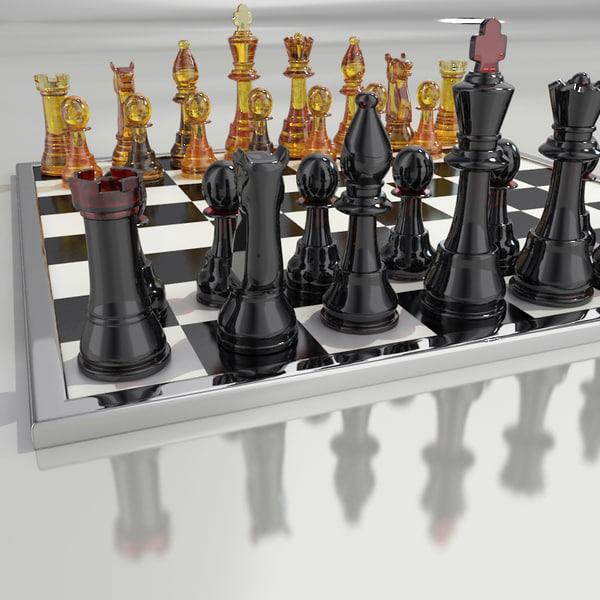 Chess glass 3D Models