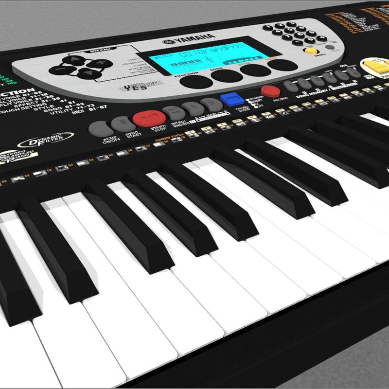 Keyboard yamaha 3d c4d for Yamaha piano keyboard models