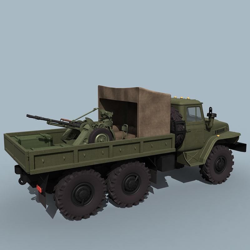Ural-4320/ZPU-2 Gun Truck
