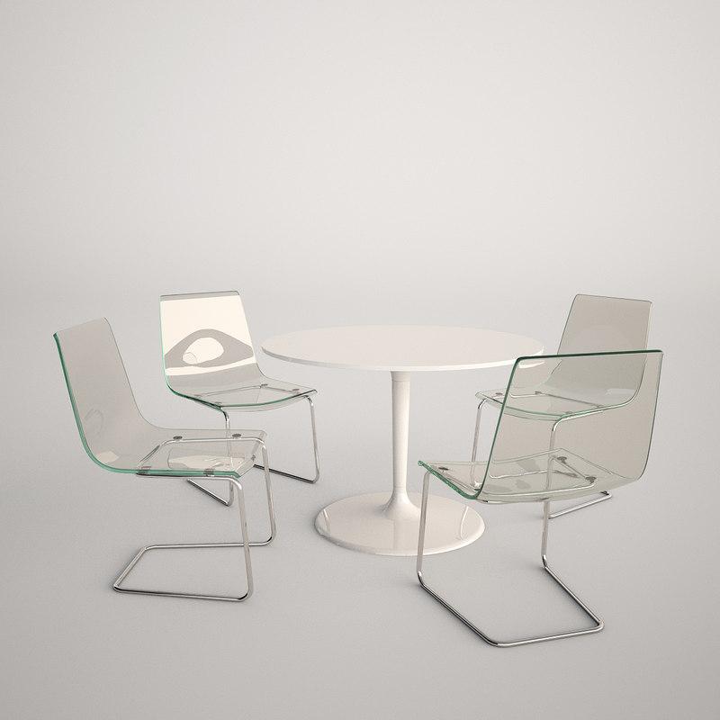 3d model ikea docksta tobias. Black Bedroom Furniture Sets. Home Design Ideas