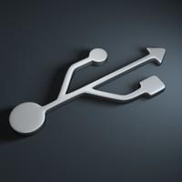 usb symbol 3D models