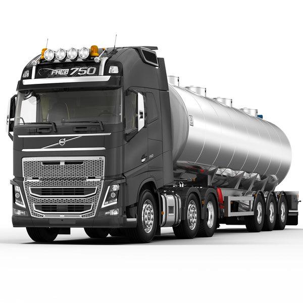 VOLVO FH 2013 (Fuel tank) 3D Models