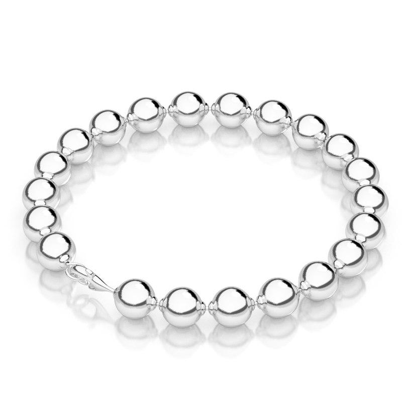 Bead Material Blender ~ Silver bead bracelet d model