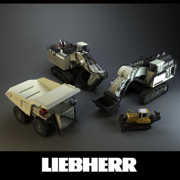 Liebherr Mining Vehicles 3D Models