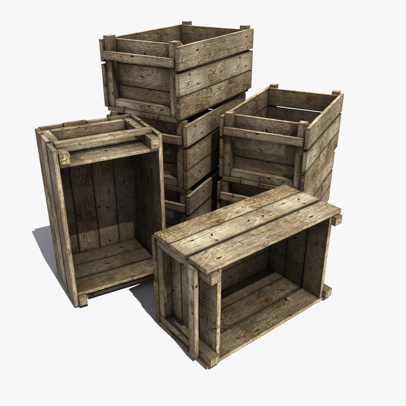 3d wooden crate model for Timber crates