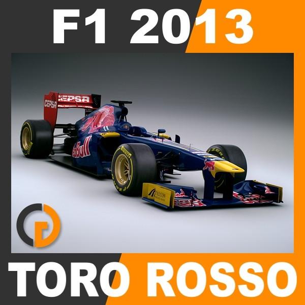 F1 2013 Toro Rosso STR8 - Scuderia Toro Rosso 3D Models