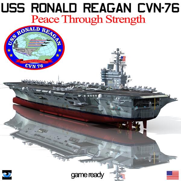 USS Ronald Reagan CVN-76 3D Models