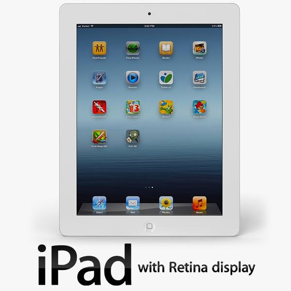The New iPad 2012 3D Models