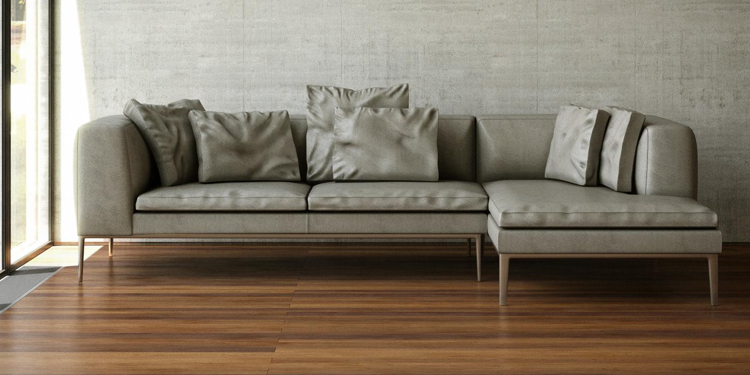 sofa designed 3d model. Black Bedroom Furniture Sets. Home Design Ideas