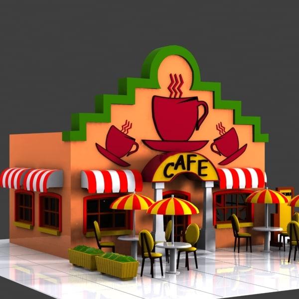 Визуализация торгово-выставочного здания с кафе (новосибирск)