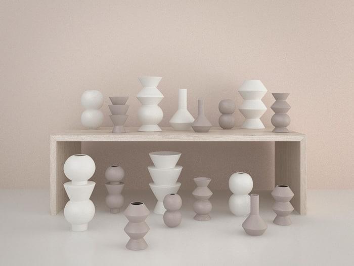 Ferm Living_Geometry vases _studio.jpg