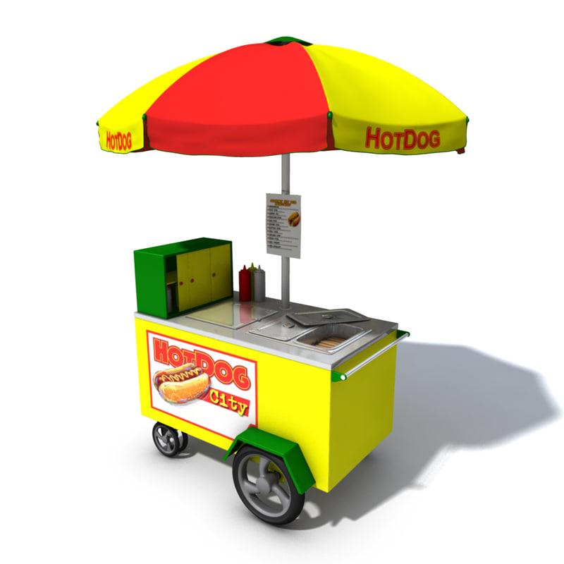 Kiosk Vendor Hot Dog