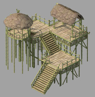 thatched hut 3D models