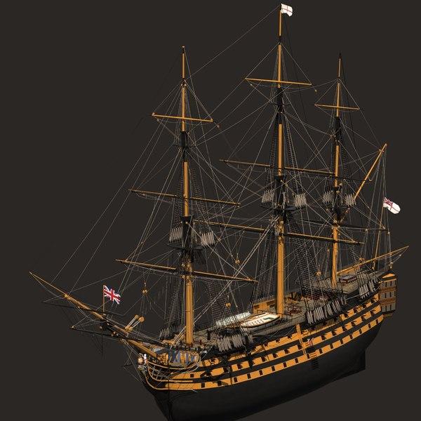 HMS_Victory_Lite 3D Models