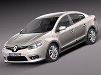 Renault fluence 3D models