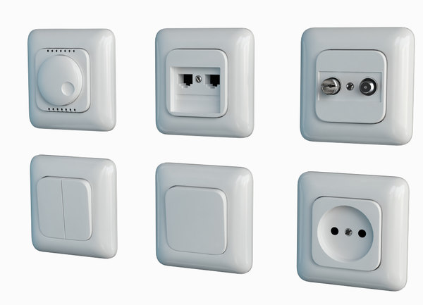 Switches and Sockets of TITAN 3D Models