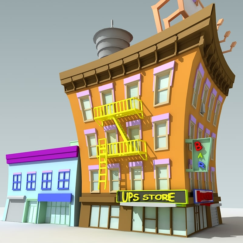 Downtown Cartoon Building