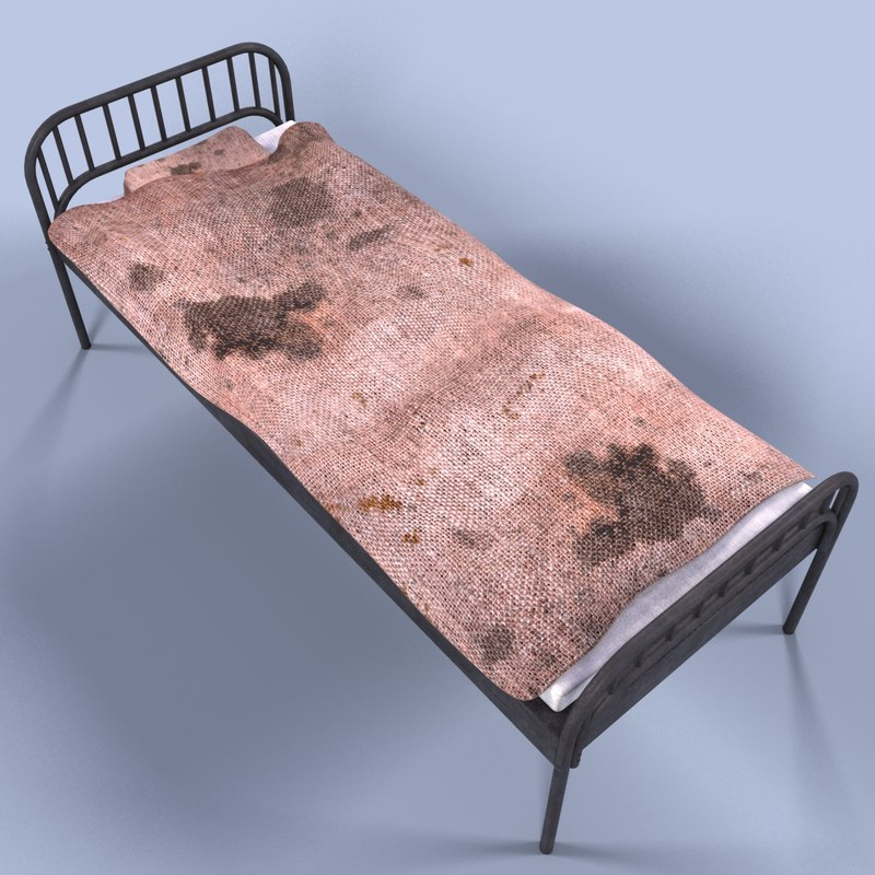 3ds max jail bed for 3ds max bed model