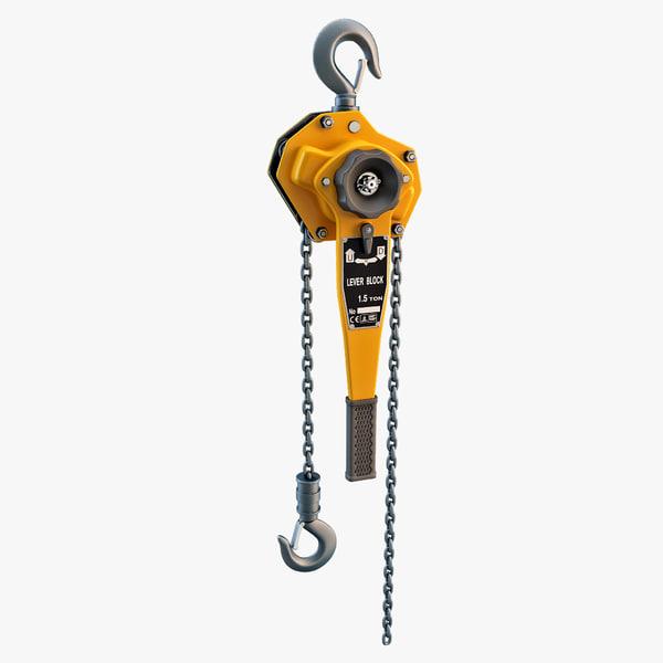 Chain Hoist 3D Models