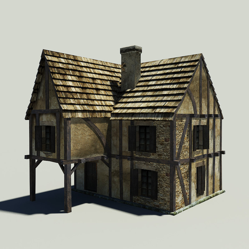 Free medieval house 3d model for Building model houses