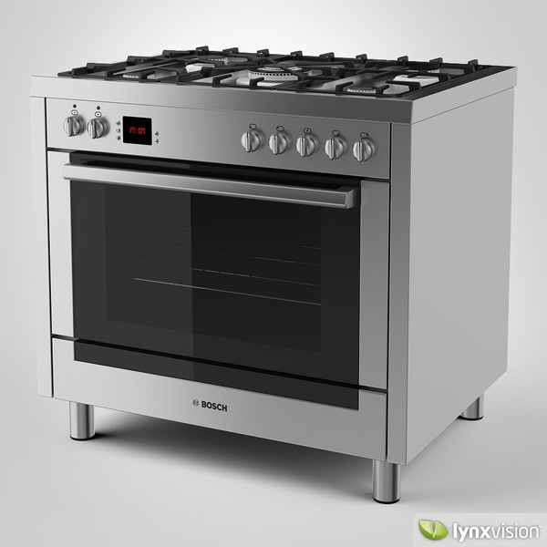 Bosch Range Cooker 3D Models