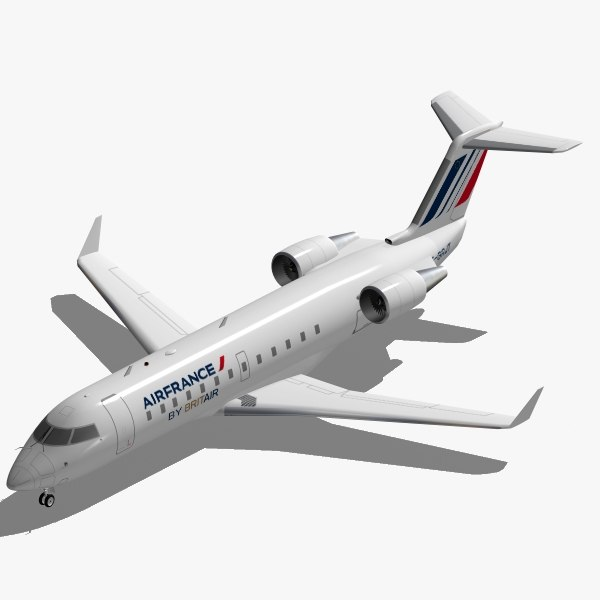 Bombardier CRJ-200 Air France 3D Models