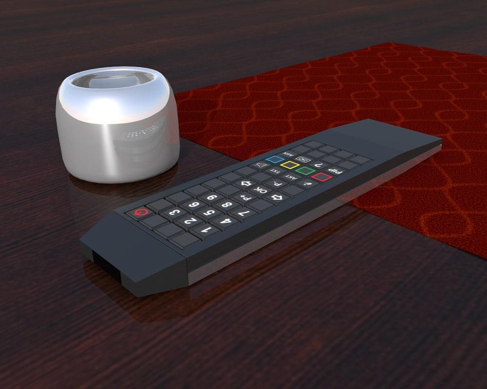 3d remote control ashtray model