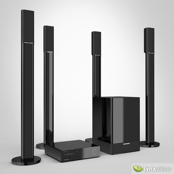Harman/Kardon Home Theater 3D Models