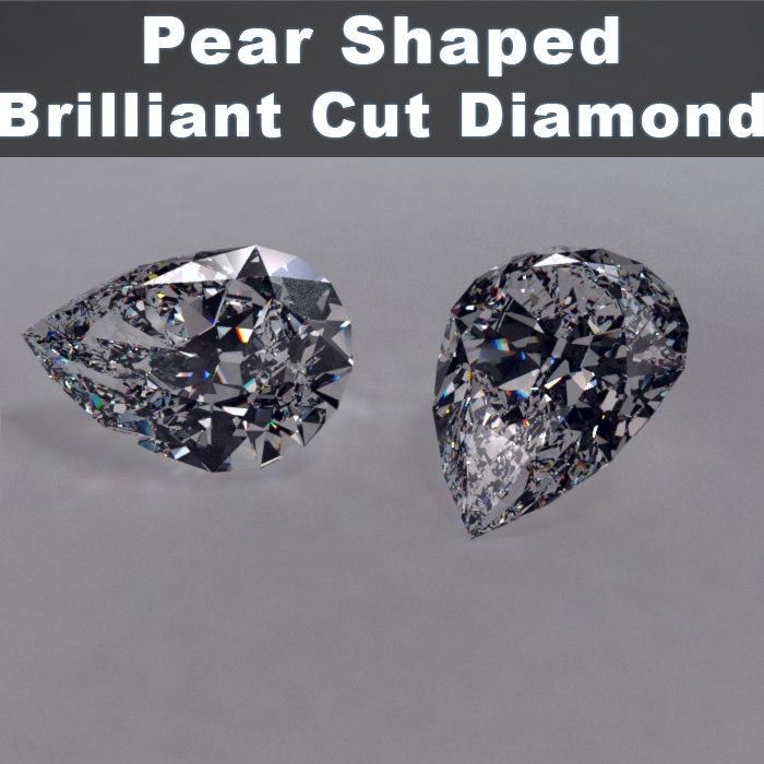 Pear Shaped Diamond Brilliant Cut
