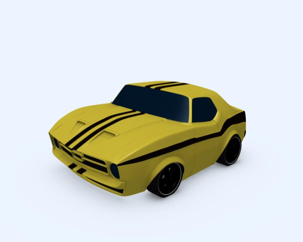 Yellow Sun Car