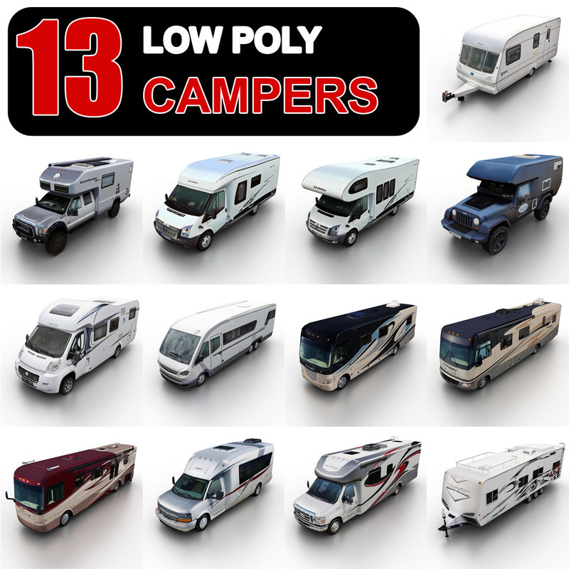 Low Poly Campers