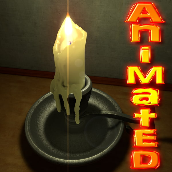 Candle Holder animated 3D Models