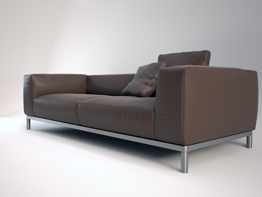 b italia frank sofa 3d model. Black Bedroom Furniture Sets. Home Design Ideas