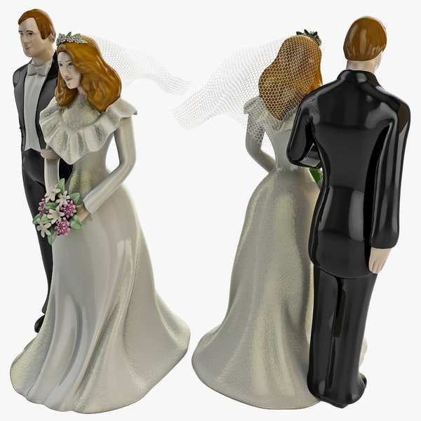 Wedding Cake Topper 3D Models