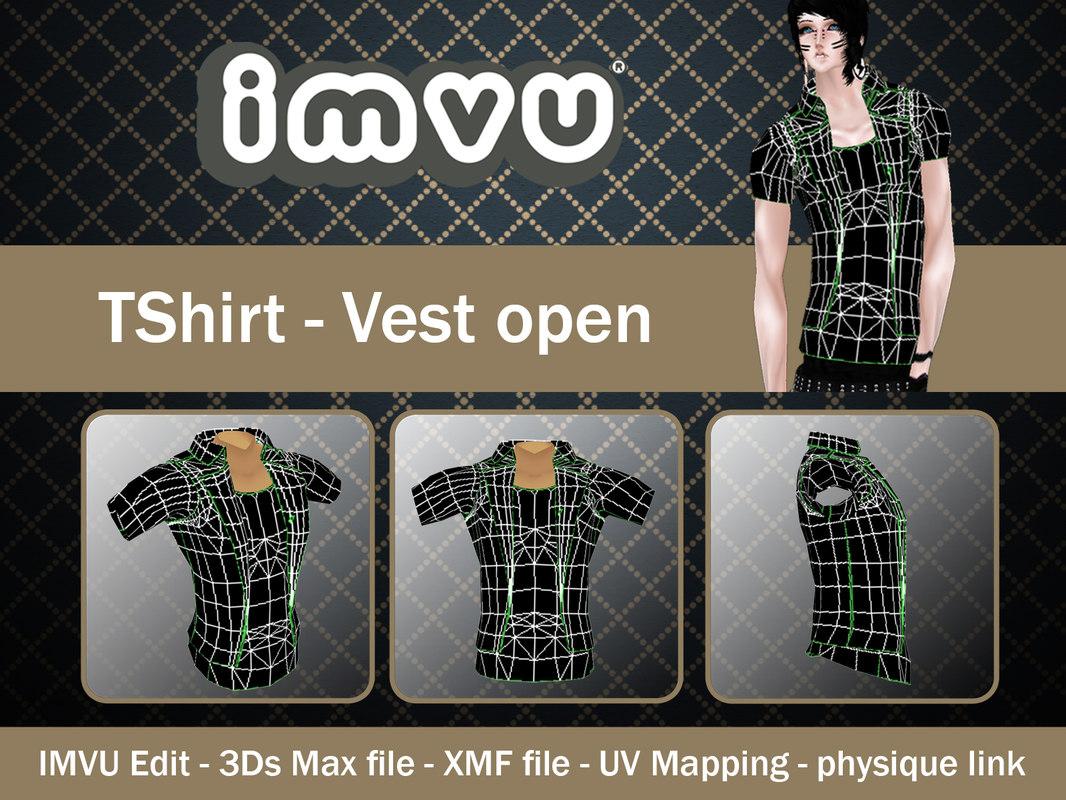 TShirt - Vest open