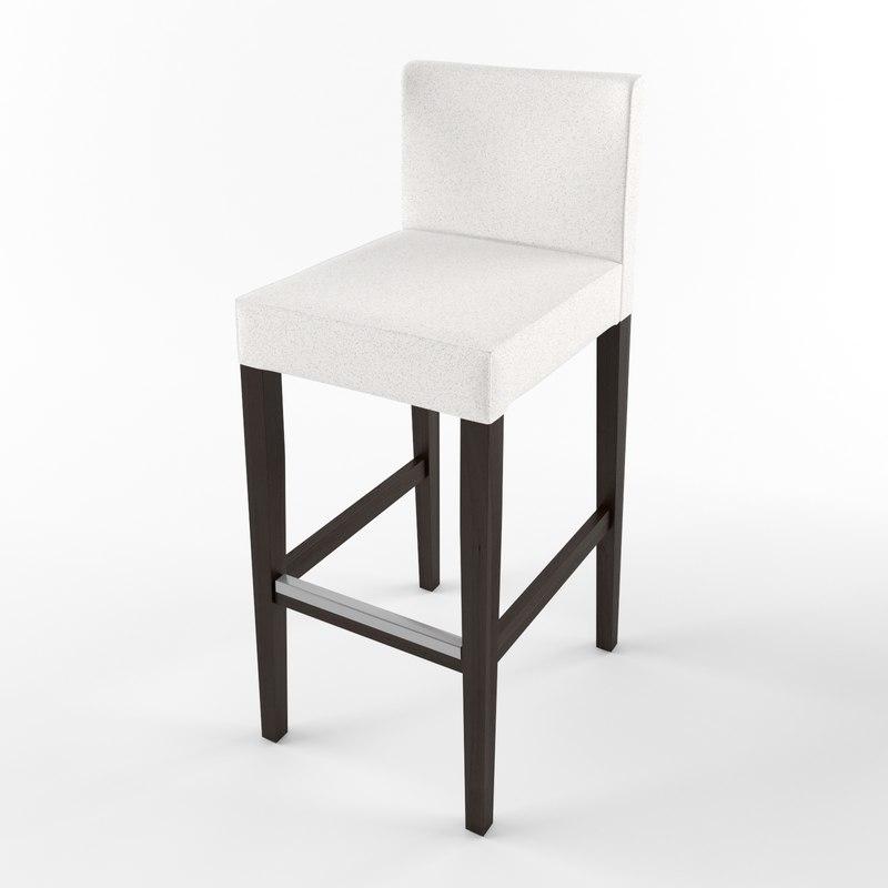 ikea henriksdal bar stool 3d max. Black Bedroom Furniture Sets. Home Design Ideas